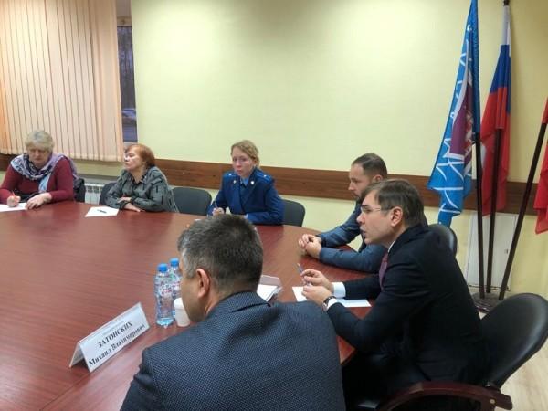 встреча с жителями, Давид Цабрия, Дмитрий Соколов, Михаил Затонский 3