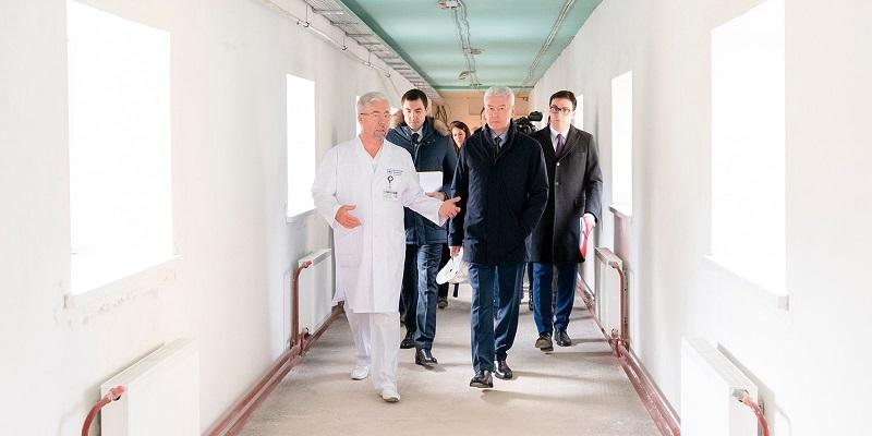 Сергей Собянин, Боткинская больница, гематологический корпус, здравоохранение