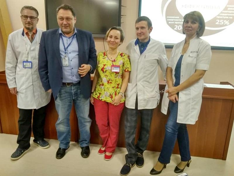 Первая Градская больница имени Пирогова, инфаркты, лекция