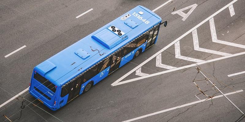 автобус транспорт дорога движение мос ру