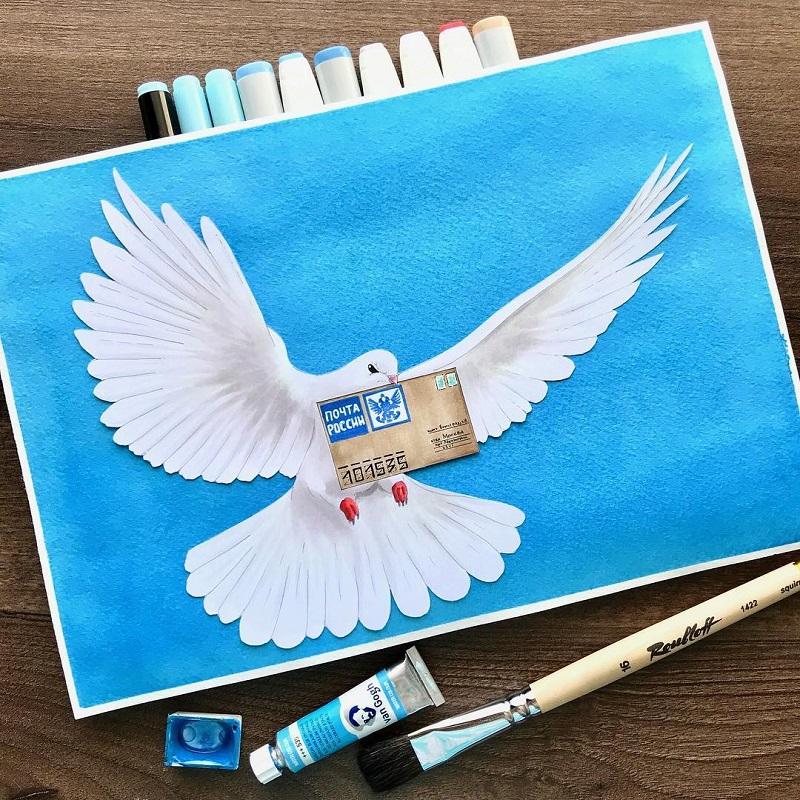 почта россии открытки поздравление инста